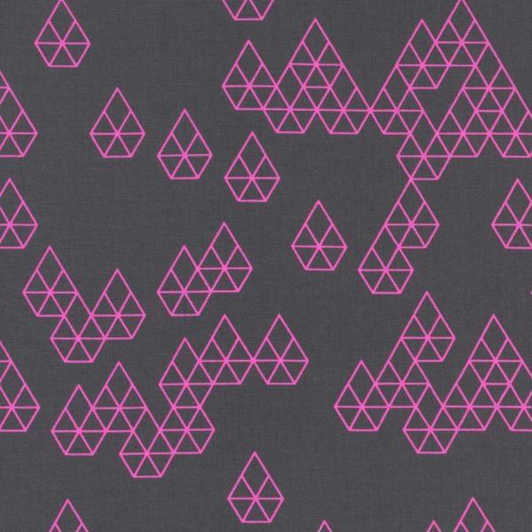 Raindrop geometrie in NEON PINK by Cotton + Steel