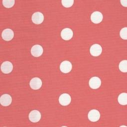 Lachs Beschichteter Baumwollstoff mit weißen Dots
