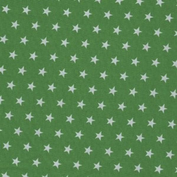 kleine weiße Sterne auf tannengrün