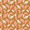 Baumwolle Terrakotta Blumen rosa ocker