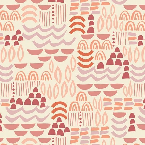 Baumwolle Terrakotta rosa rot
