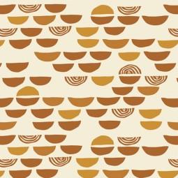 Baumwolle Terrakotta rost senfgelb