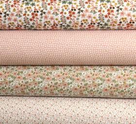 Baumwolle Blumen mint rosa weiß