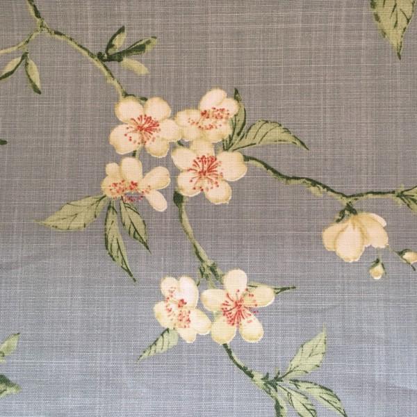 Canvas hellblau Blumen