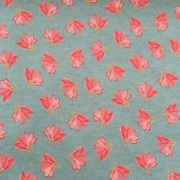Sweat mintgrün koralle Blumen Glitzer