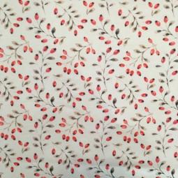 Jersey puderfarben rote Beeren