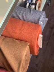 Strickstoff Orange Heavy Angora