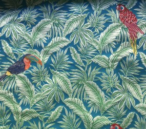 Jacquard Tropical Blau