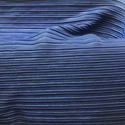 Plissee Metallic-blau
