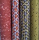 Baumwolle rostfarben kleingemustert