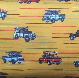 Baumwolle Autos gelb rot