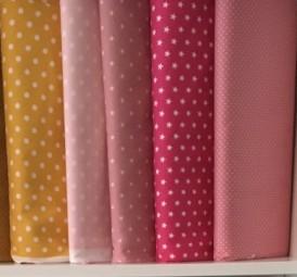 Baumwolle Sterne weiß auf pink