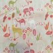 Baumwolle rosa mit tropischen Tieren
