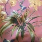 Baumwolle korallfarben mit Blumen