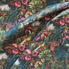 Baumwolle tropic Tiere und Blumen