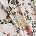 JERSEY Blumenmuster rosa