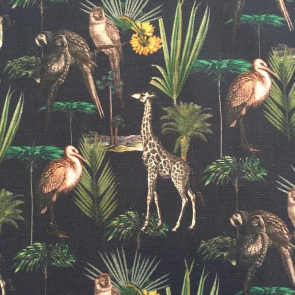 Baumwolle schwarz Giraffe