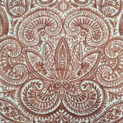 Leinen-Baumwolle rostrosa gemustert