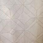 Baumwollstoff graphisch weiß grau