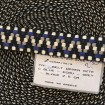 Gurtband blau ecru grau schwarz 2,5cm