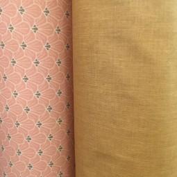 Beschichteter Baumwollstoff Blumen rosa