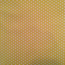 Baumwolle Sterne weiß auf gelb