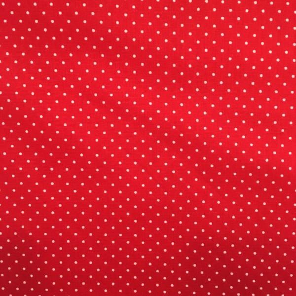 Baumwolle Dots weiß auf rot
