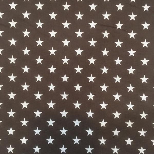 Baumwolle Sterne dunkelbraun