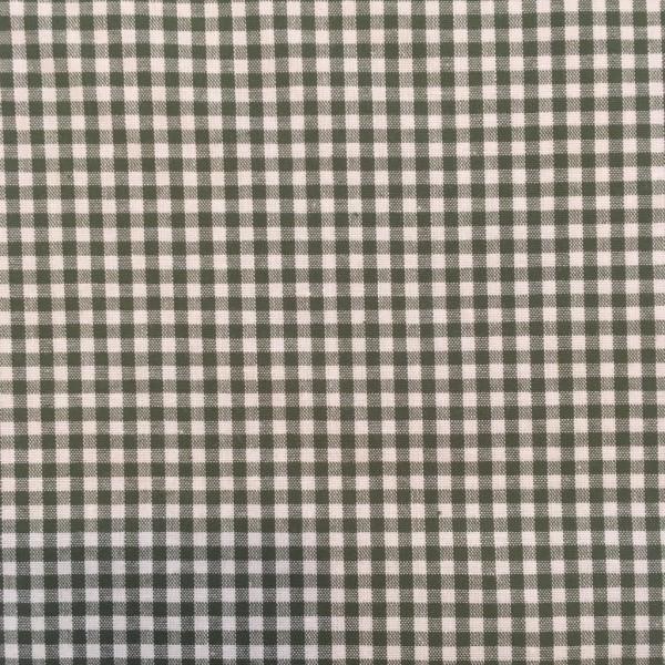 Baumwolle kariert grün weiß