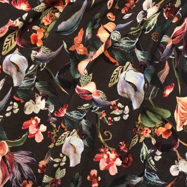 Jersey Viskose Feinstrick Blumen
