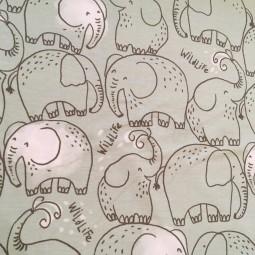 Jersey mintgrün Elefanten