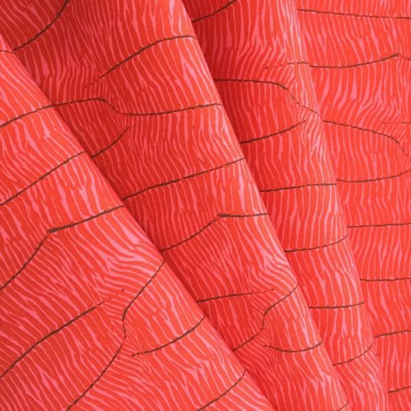 AGF Baumwolle coral animal print