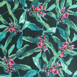 Baumwolle AGF Blätter grün rot
