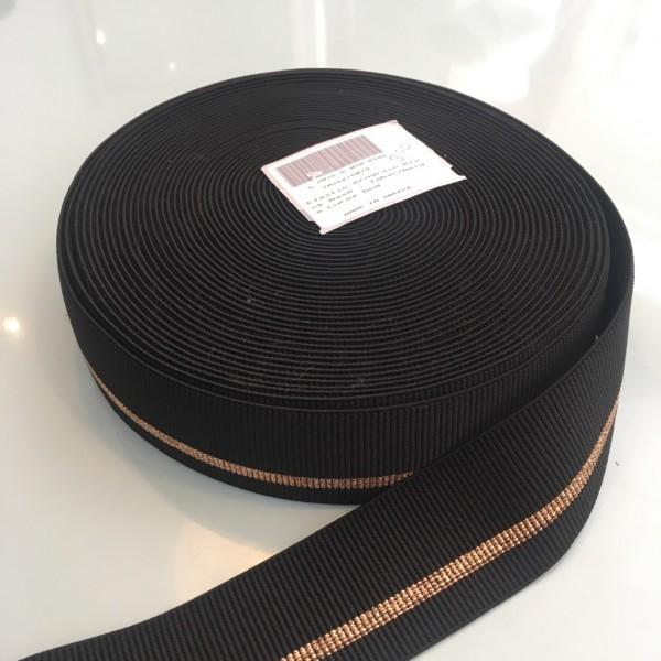 Gummiband schwarz kupfer 5cm