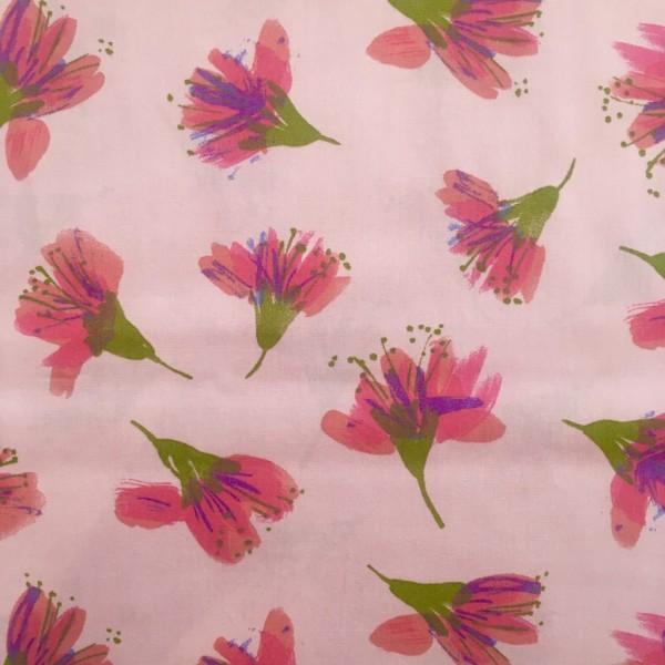 Baumwolle rosa schöne Blumen