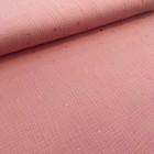 Musselin double gauze warmes rosa Glitzer Dots