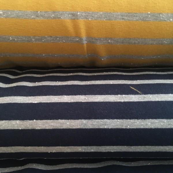Sweat Streifen dunkelblau grau meliert