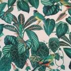 Canvas tropic birds petrol