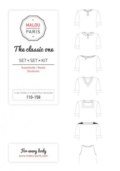 Halsausschnittset The Classic One Kid by Malou Paris