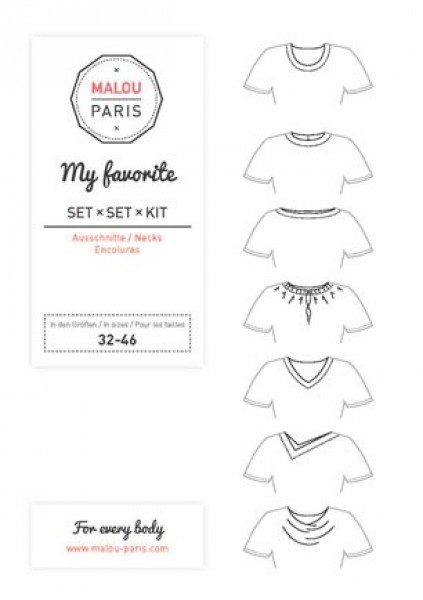 Halsausschnittset My Favorite Woman by Malou Paris