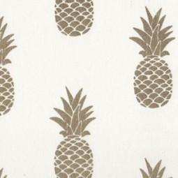 Goldene Ananas Weiß