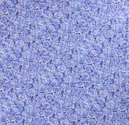 Baumwollstoff Rosen blau