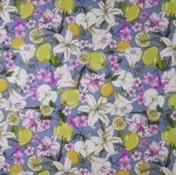 Baumwolle Blumen Zitronen