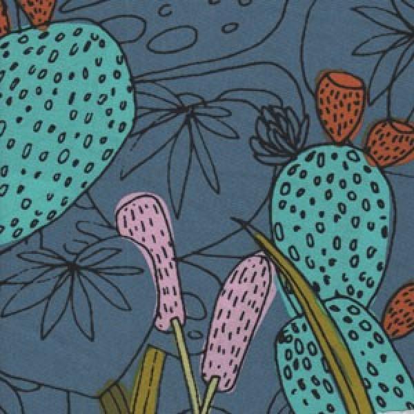 Öko Baumwolle Foliage blue by Cloud9