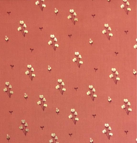 Viskose pink Blumen