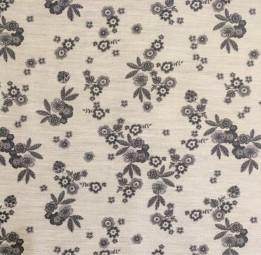 Baumwolle Blumen grau