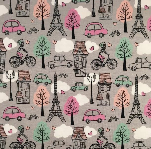 JERSEY Fahrrad Paris rosa grau mint