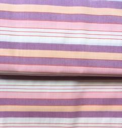 Baumwollstoff Streifen rosa gelb lila