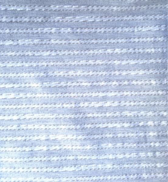 Baumwolle Streifen grau weiß