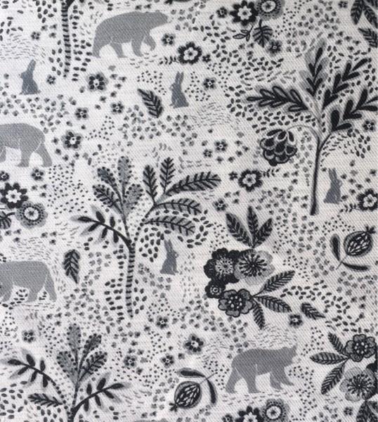 Baumwolle Märchenhafte Waldtiere grau